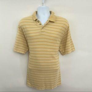 Men's Columbia Polo Style Stripe Shirt Size L K-42